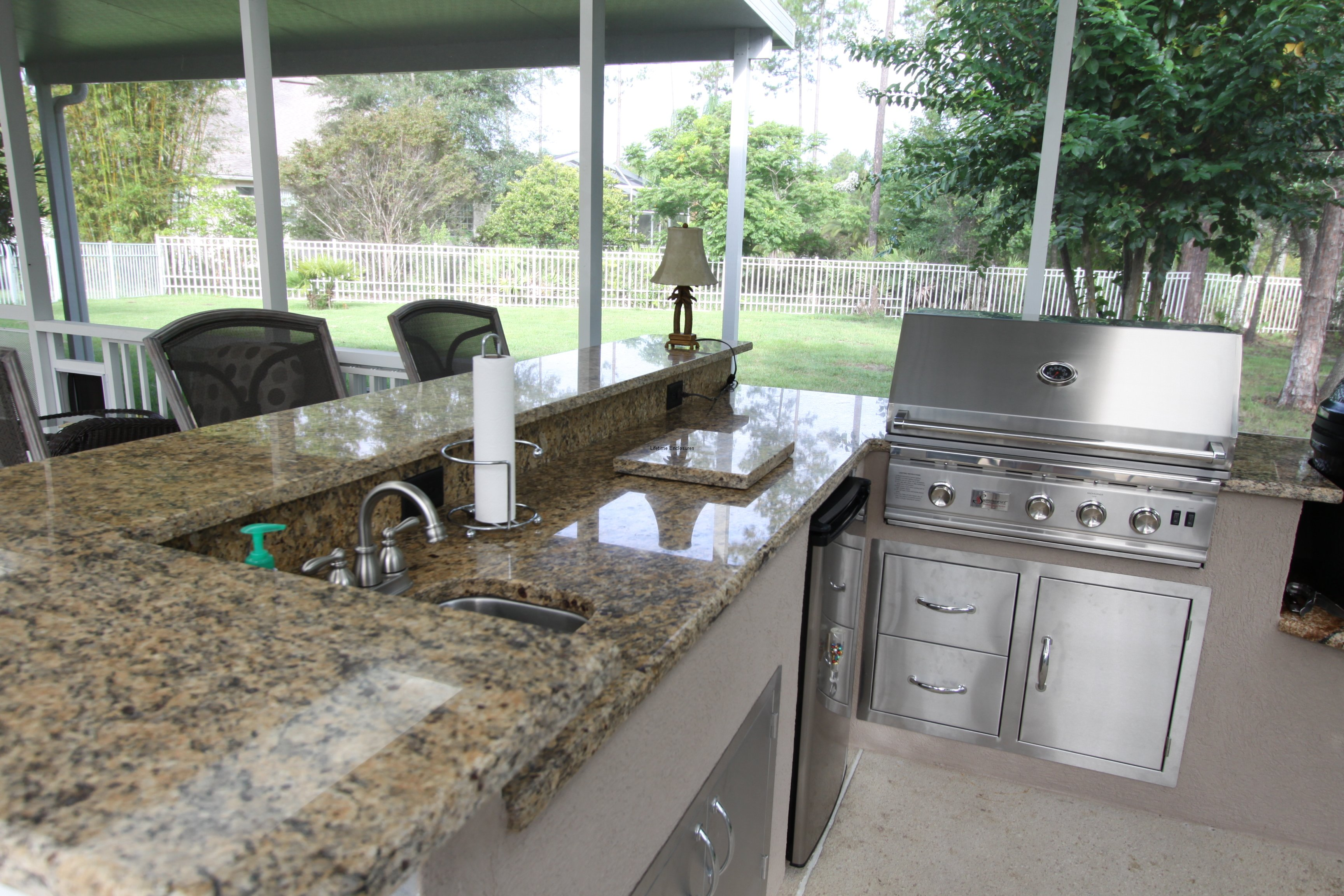 Outdoor Kitchens Jacksonville Outdoor Kitchens Lifetime Enclosures
