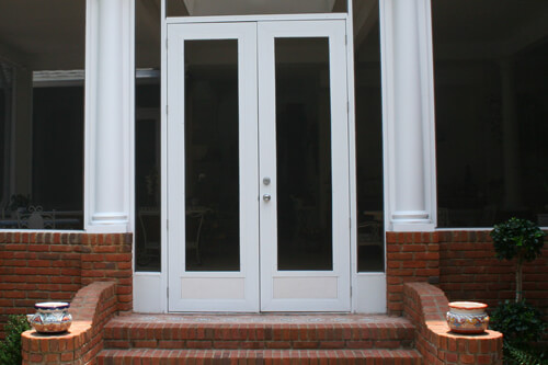 Screen enclosures lifetime enclosures for French doors both open
