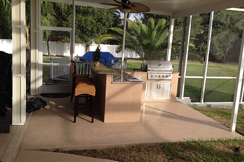 Outdoor Kitchen - Bar Extension