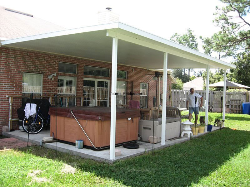 Patio covers carports awnings lifetime enclosures for Carport deck