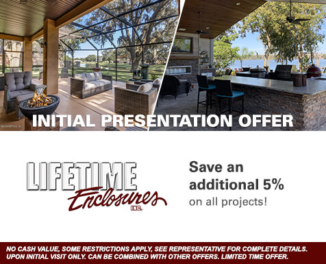 Lifetime Enclosures Online Special: Senior Citizen Discount - Save an additional 15%