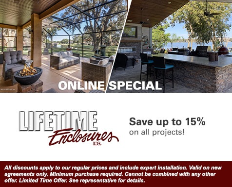 Lifetime Enclosures Online Special - Save up to 15%