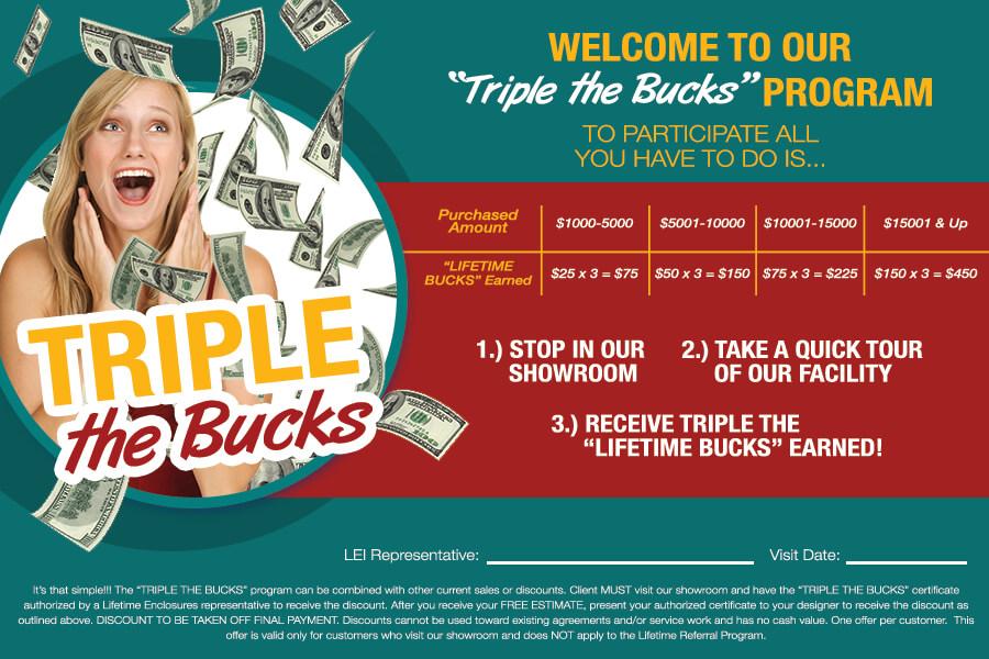 Triple the Bucks! - flyer